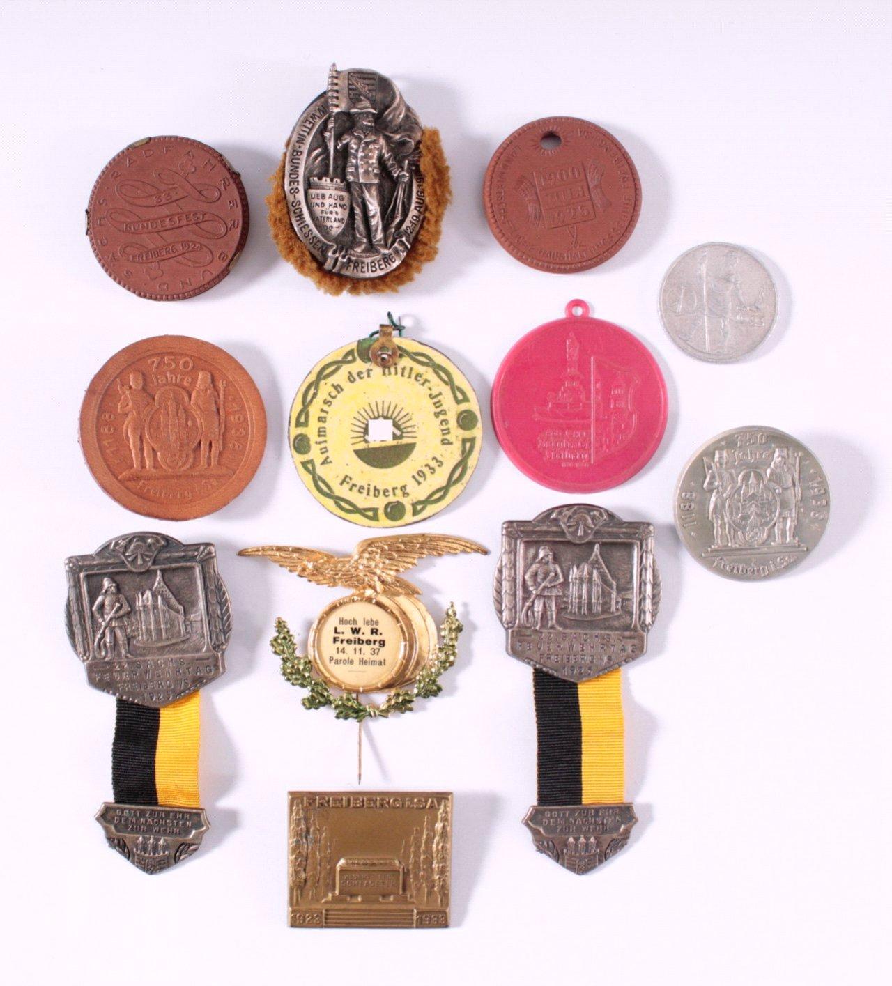 Abzeichen und Medaillen Freiberg in Sachsen
