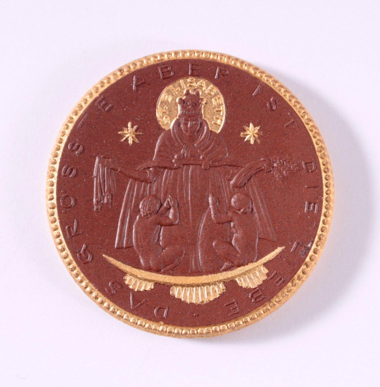 Böttger Steinzeug Medaille Caritas Verband 1924
