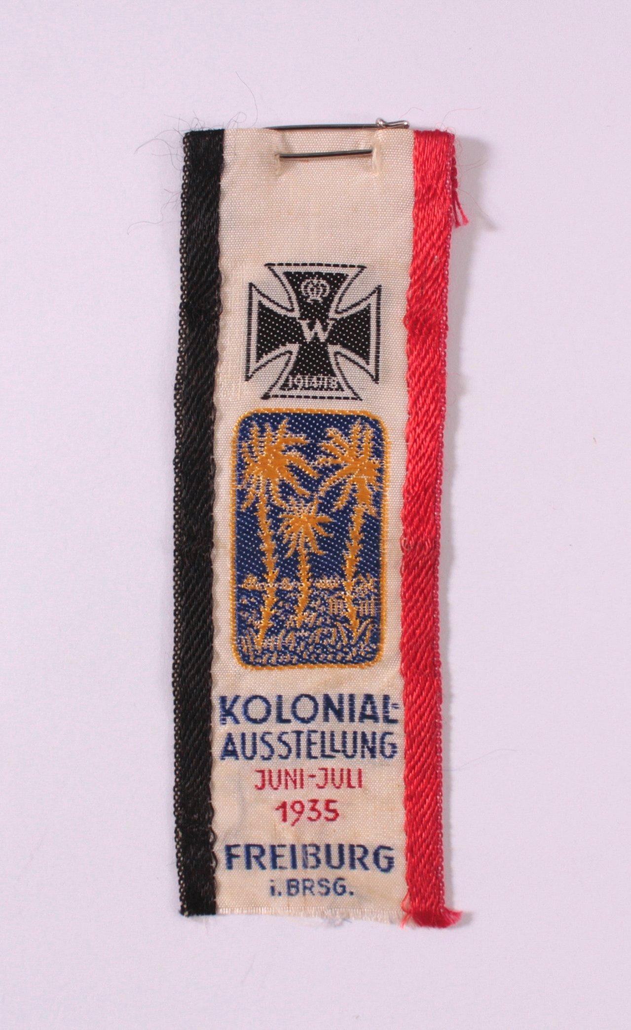 Seidenband Deutsche Kolonialausstellung 1935, Freiburg