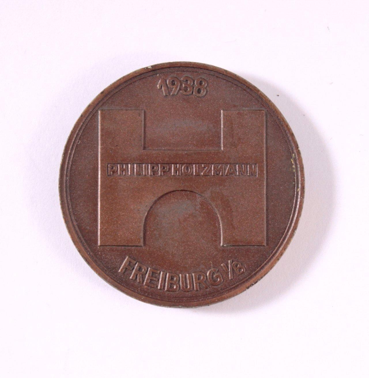 Medaille Philipp Holzmann, Freiburg i/B. 1938