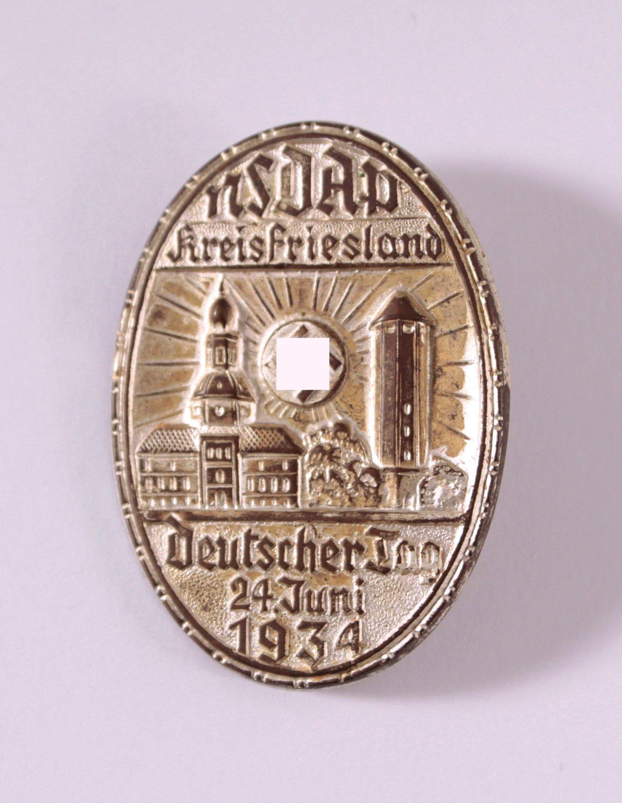 Abzeichen NSDAP Kreis Friesland, Deutscher Tag 1934