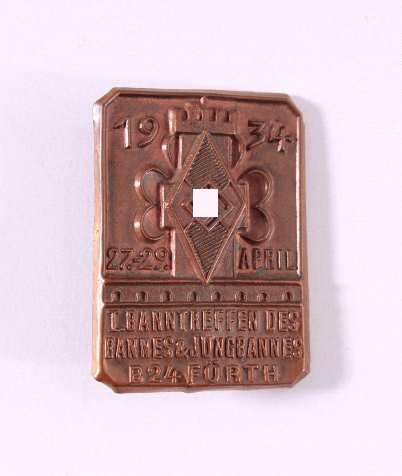Abzeichen I. Banntreffen Fürth 1934, Jungbann B24