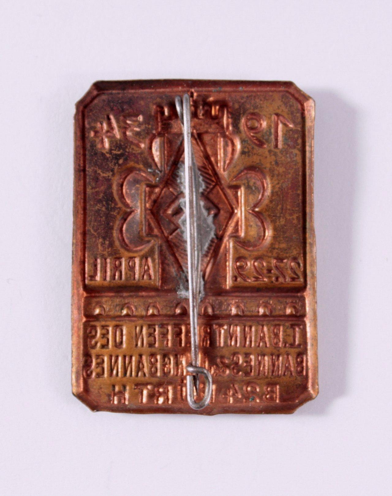 Abzeichen I. Banntreffen Fürth 1934, Jungbann B24-1