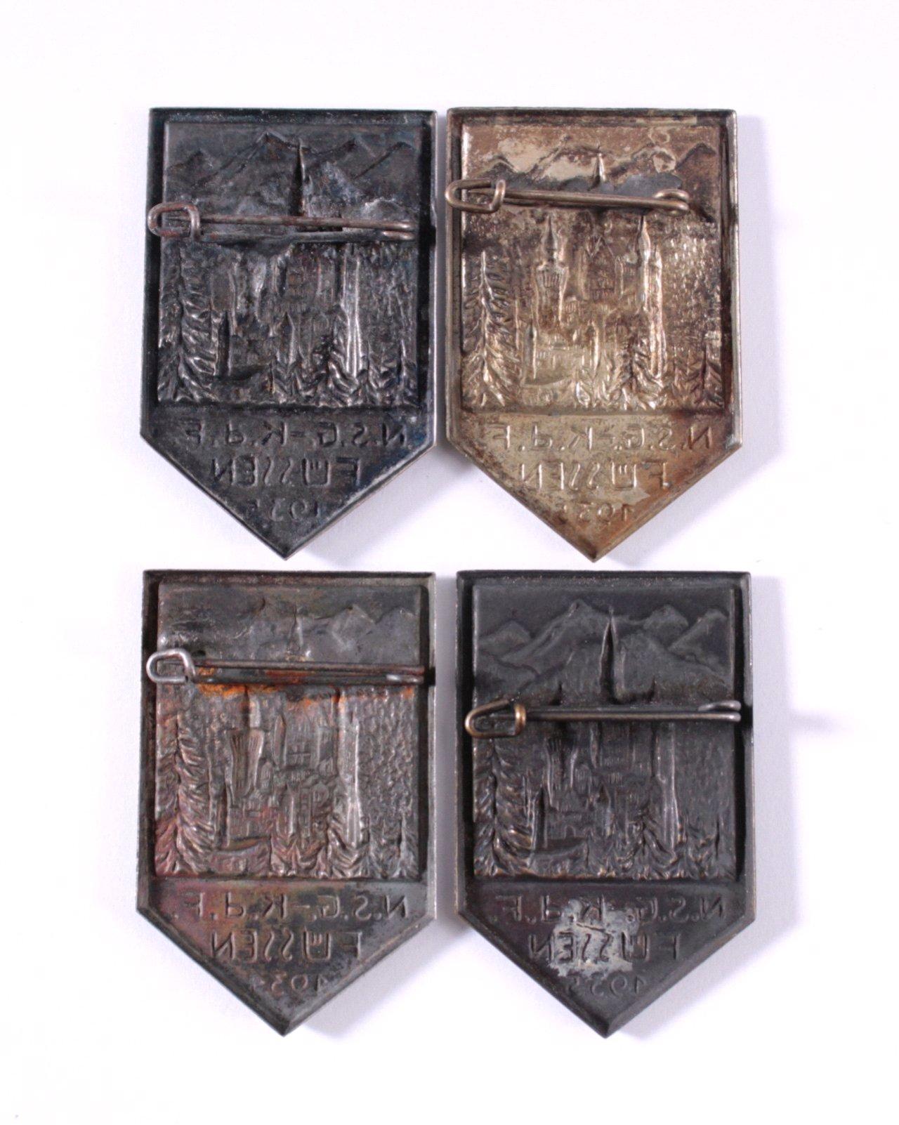 4 KdF Anstecker Füssen 1934/35-1