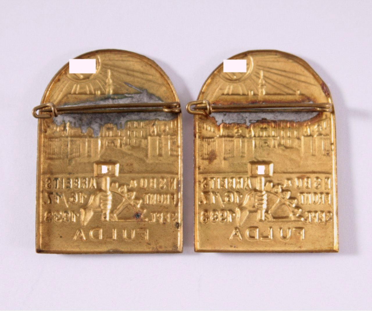 2 Abzeichen NSBO & Arbeitsfront Fulda 1933-1