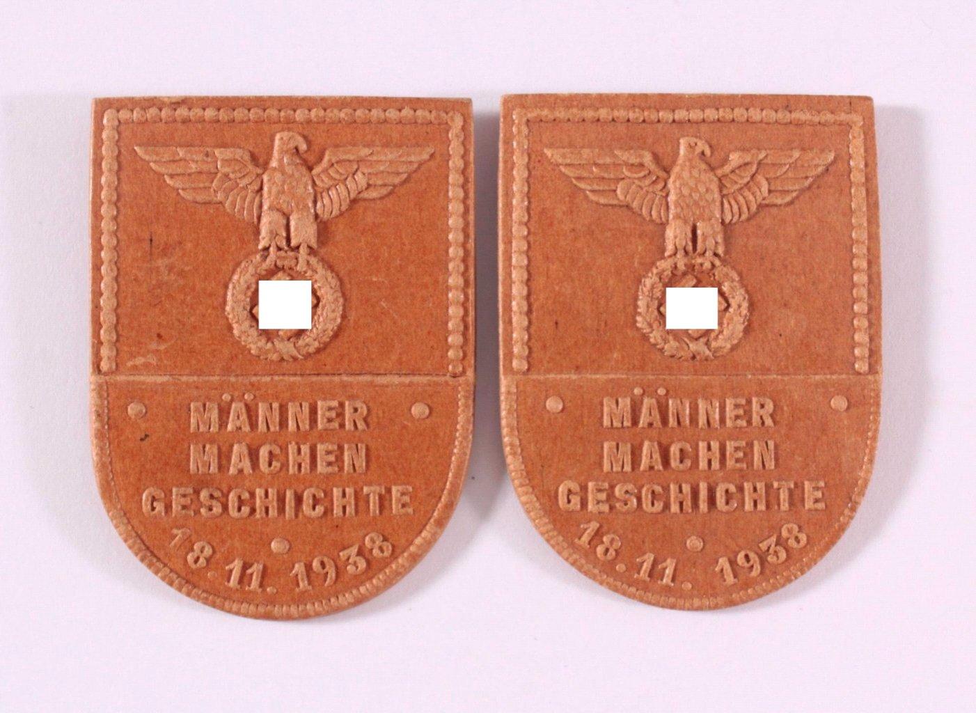 2 Abzeichen Männer machen Geschichte 1938