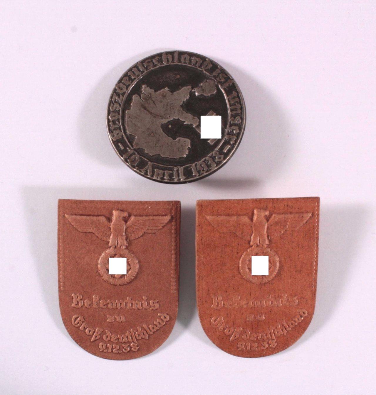 3 Abzeichen Grossdeutschland