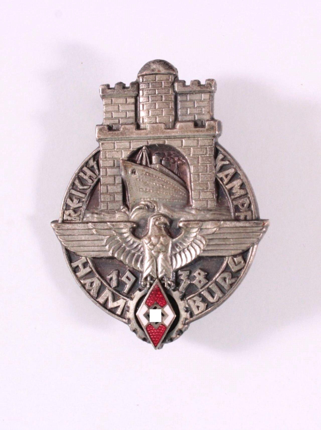 Abzeichen HJ Reichskampf Hamburg 1938