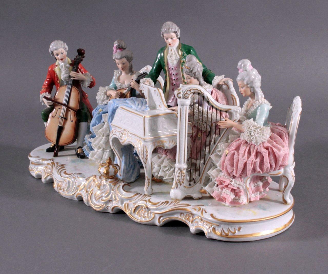 "Große Porzellanfigur ""Rokoko Quintett""-1"