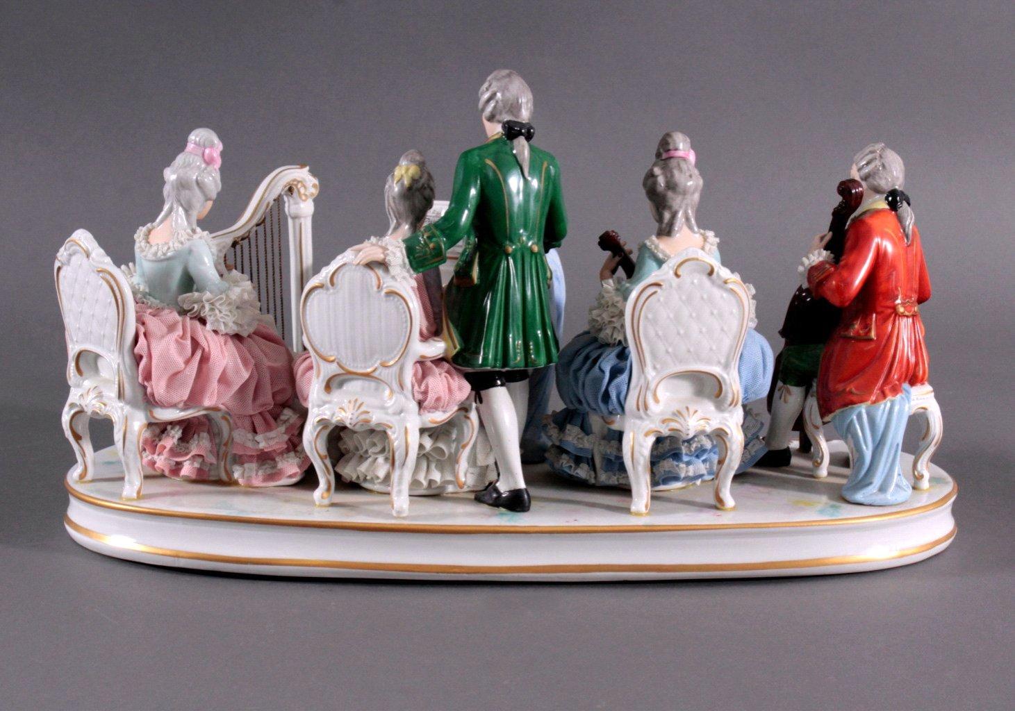 "Große Porzellanfigur ""Rokoko Quintett""-2"
