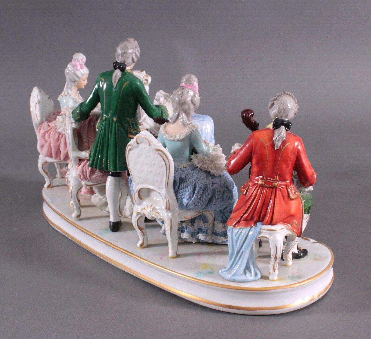 "Große Porzellanfigur ""Rokoko Quintett""-3"