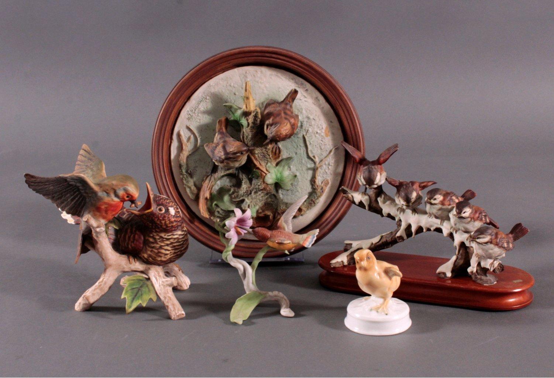 Konvolut Tierplastiken, Vogelfiguren