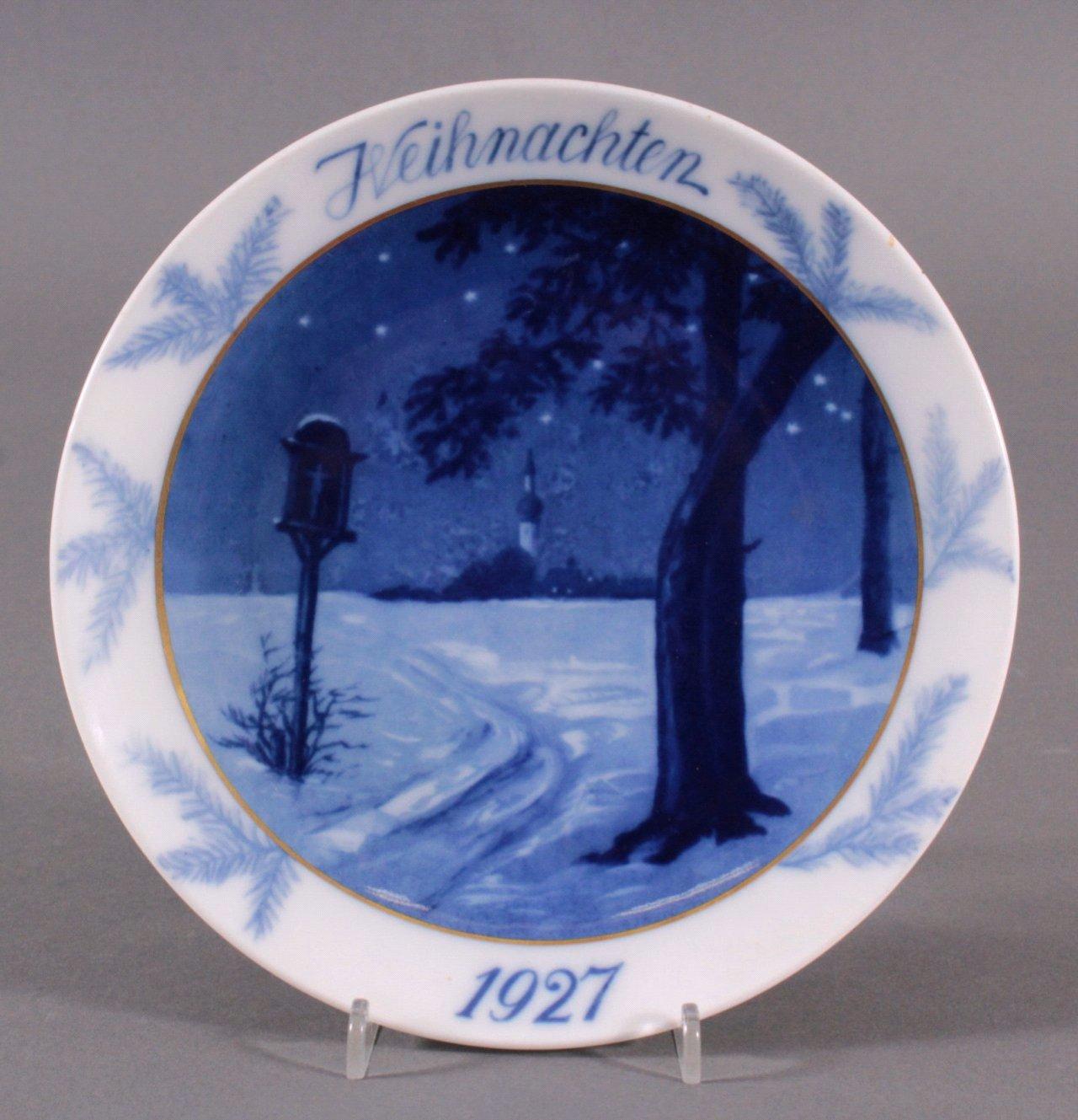 Hutschenreuther Weihnachtsteller, 1927