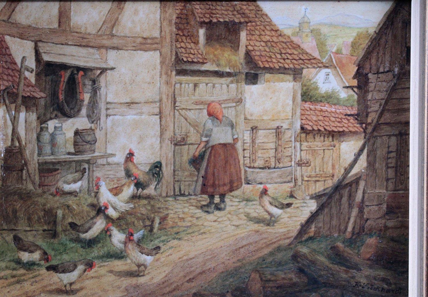 Karl Luckhardt (1886-1970). Genre und Tiermaler-1