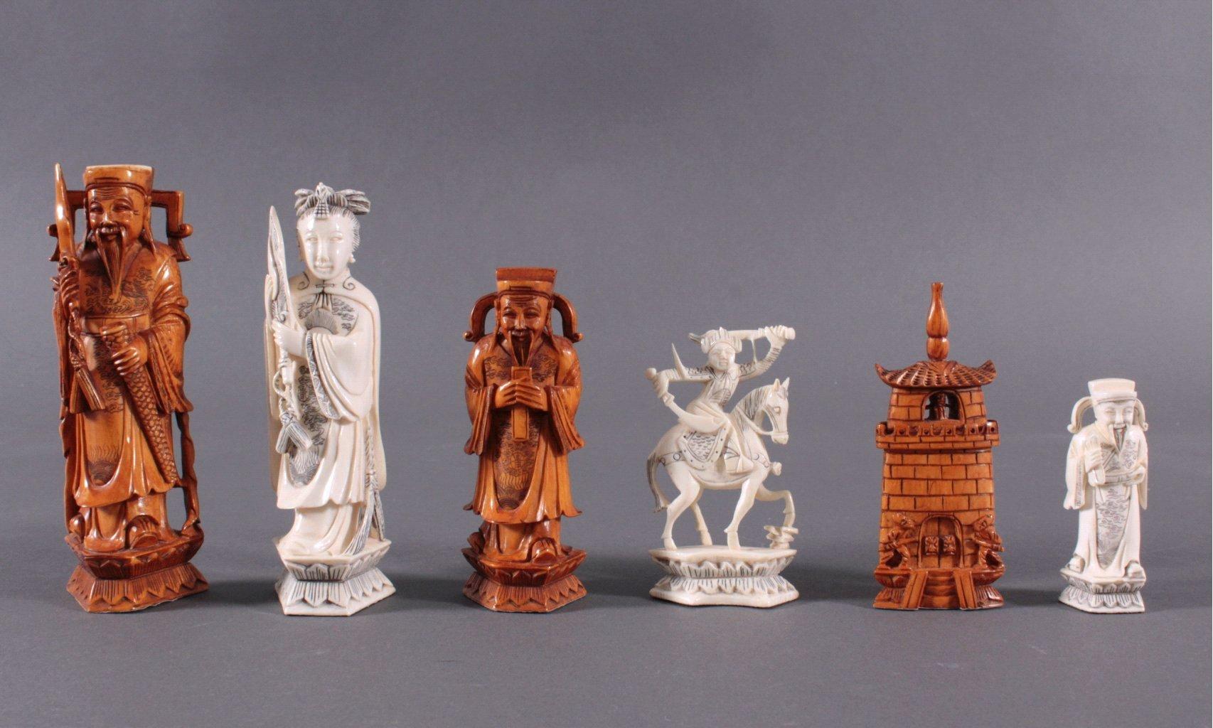 Elfenbein-Schachspiel – China
