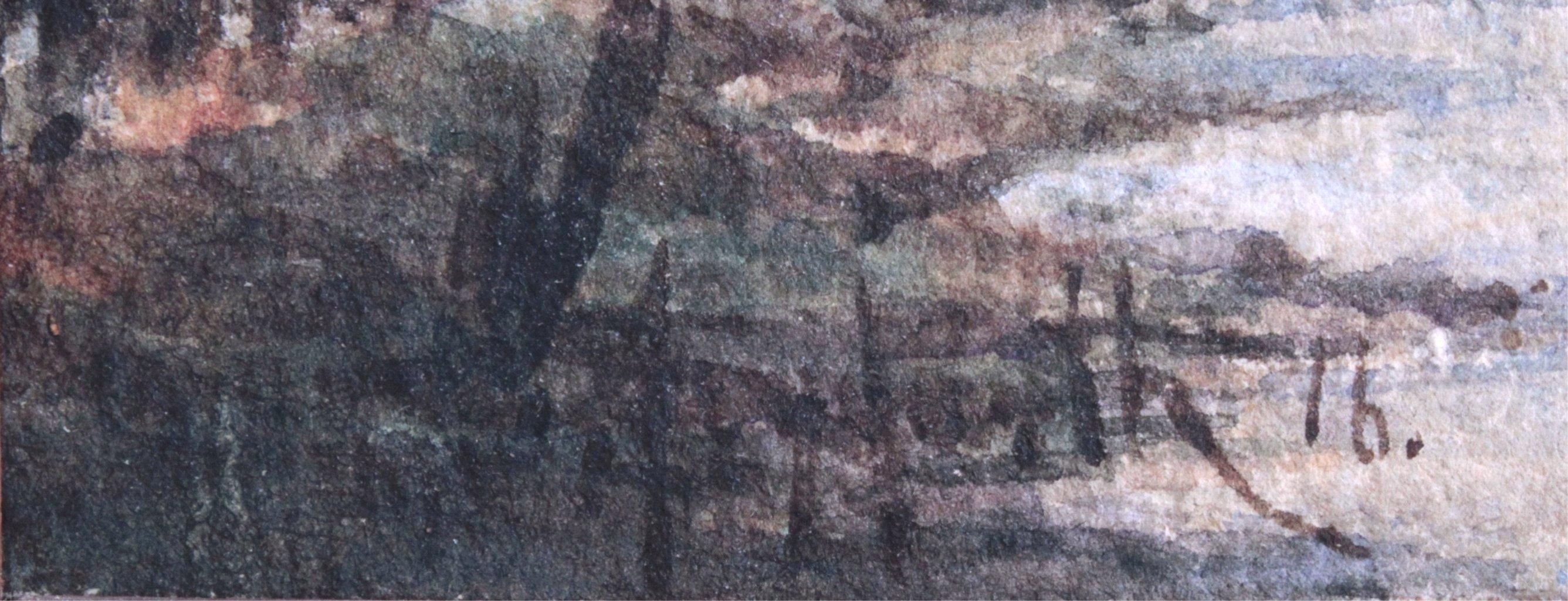 Zwei Landschaftsaquarelle von 1916-3
