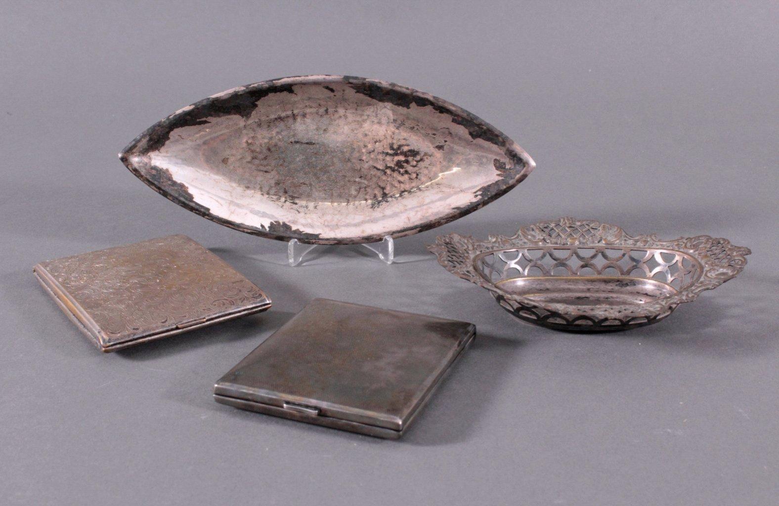 Vier Teile Versilbert um 1900
