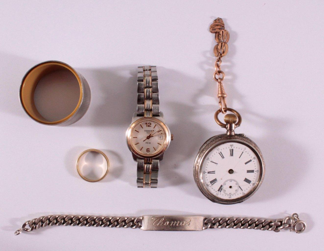 Schmuck Konvolut, GG 585 und Silber