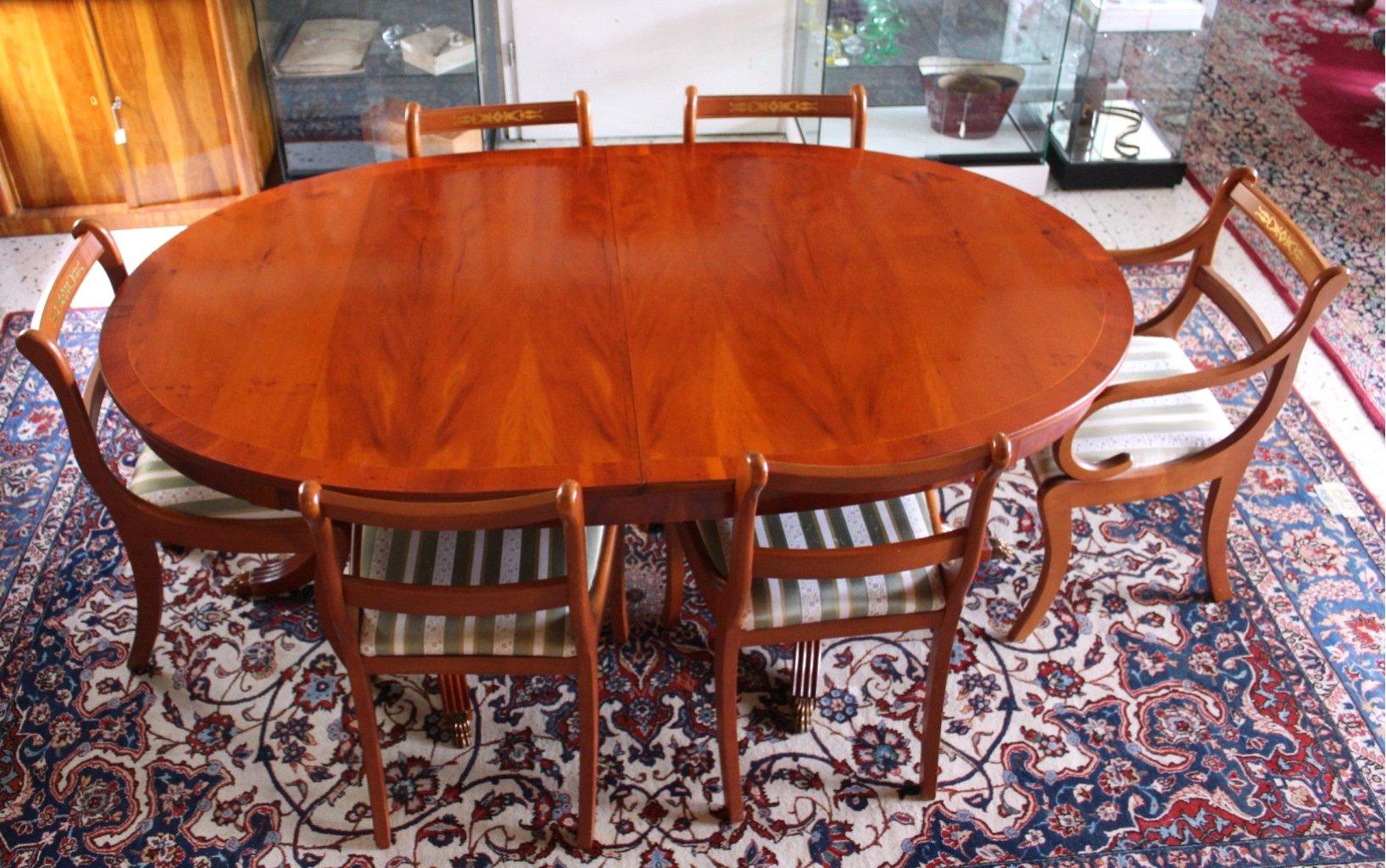Esstisch und 6 Stühlen, Stilmöbel-1
