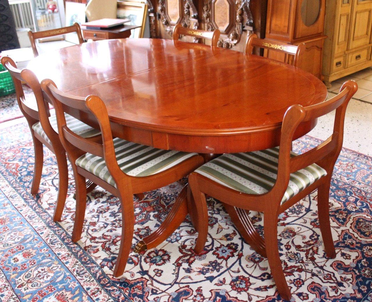 Esstisch und 6 Stühlen, Stilmöbel-2