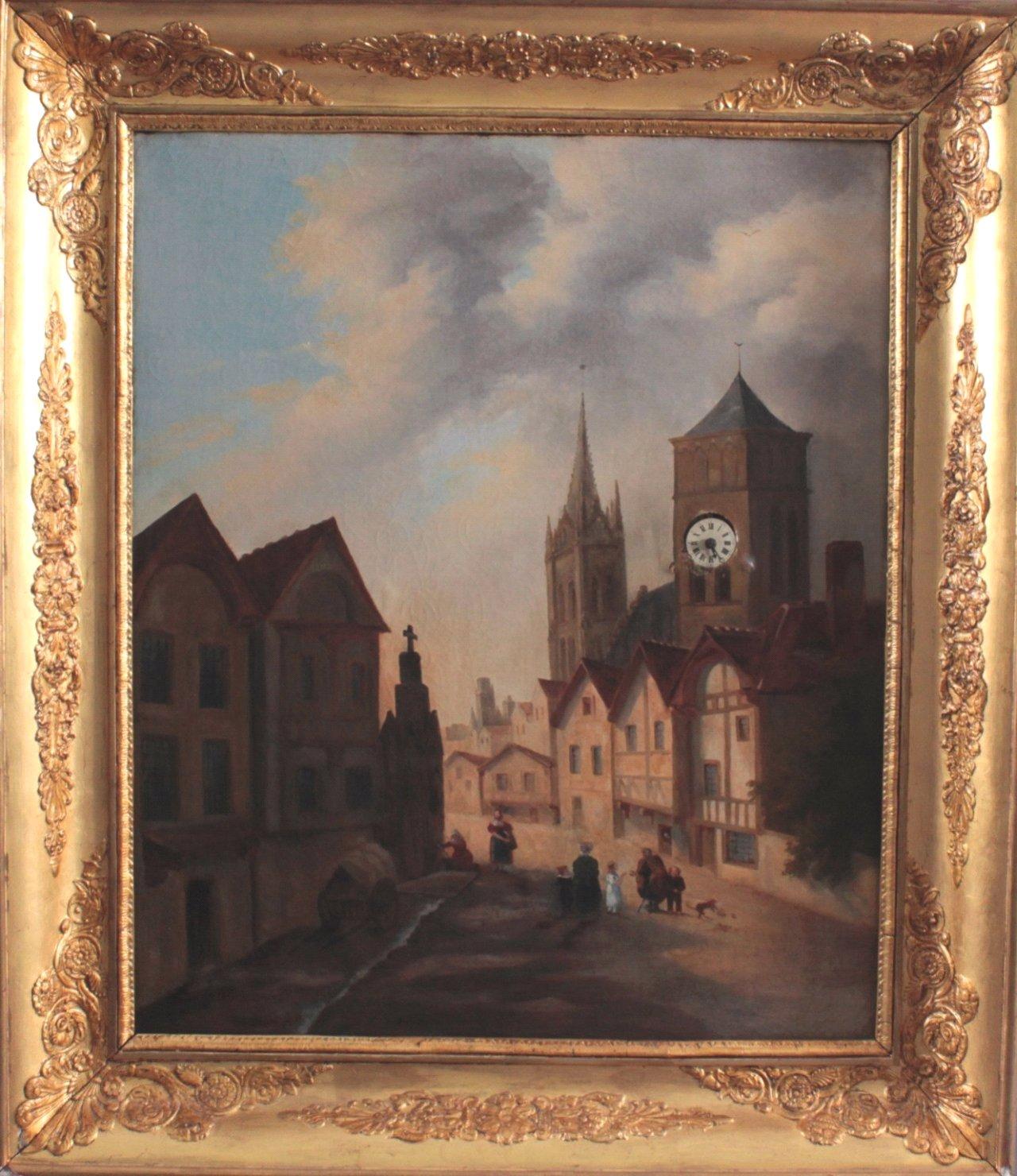 Bilderuhr mit Motiv des Straßburger Münsters