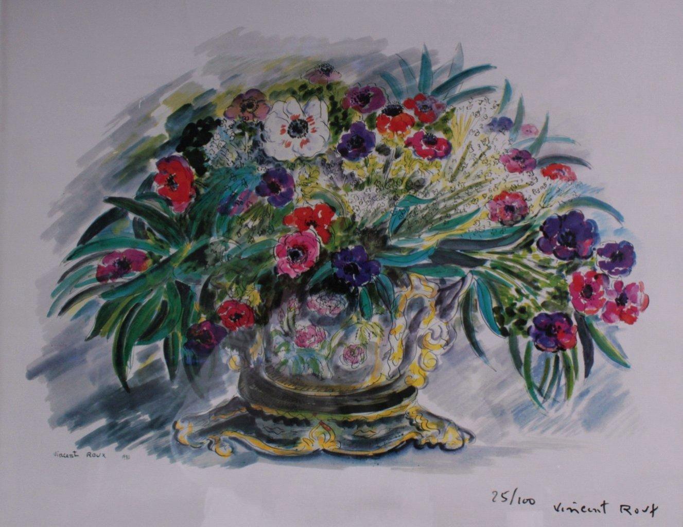 Vincent Roux 1928-1991, Blumenstilleben