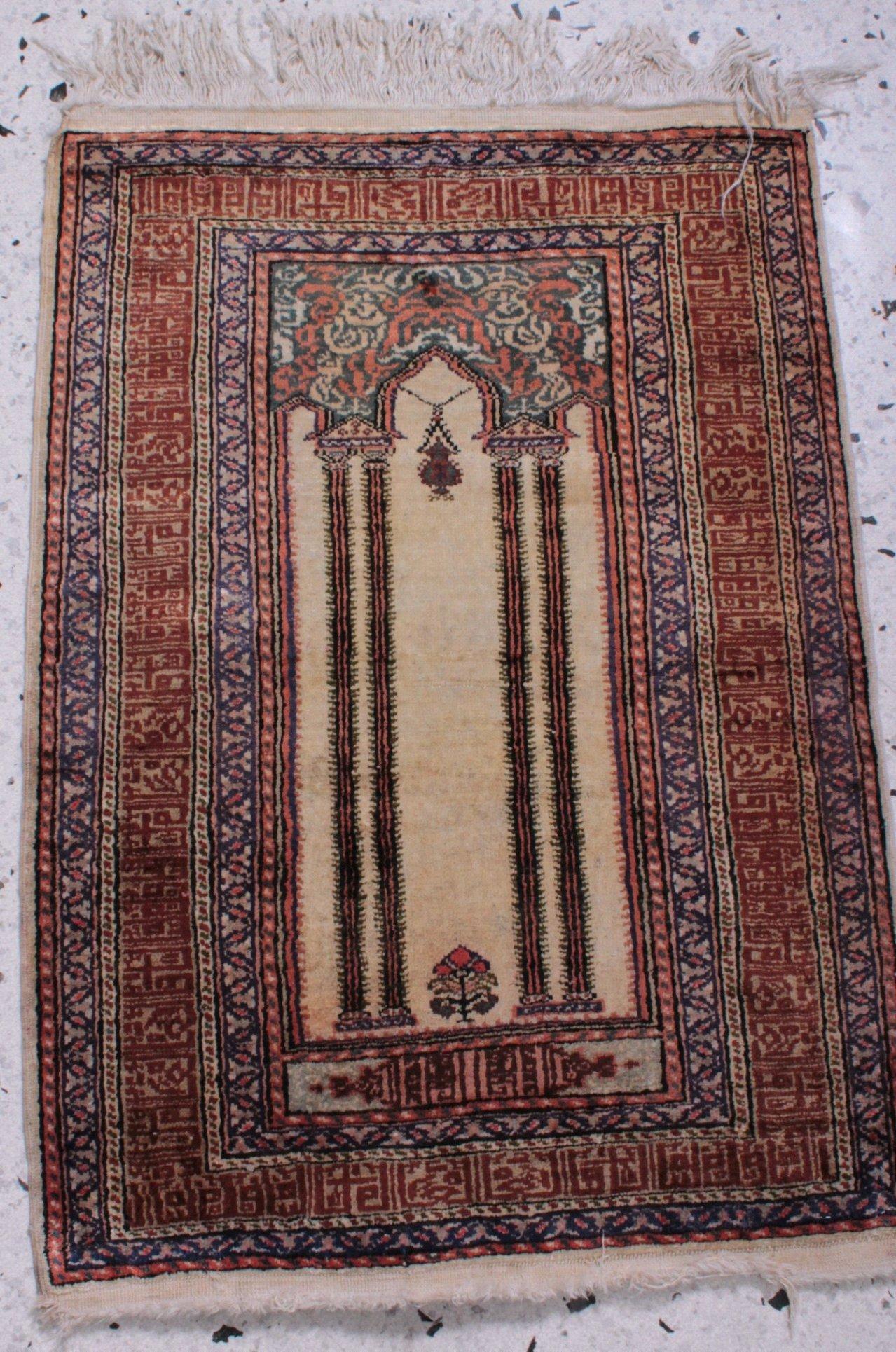 Orientteppich, Seide, 20. Jahrhundert