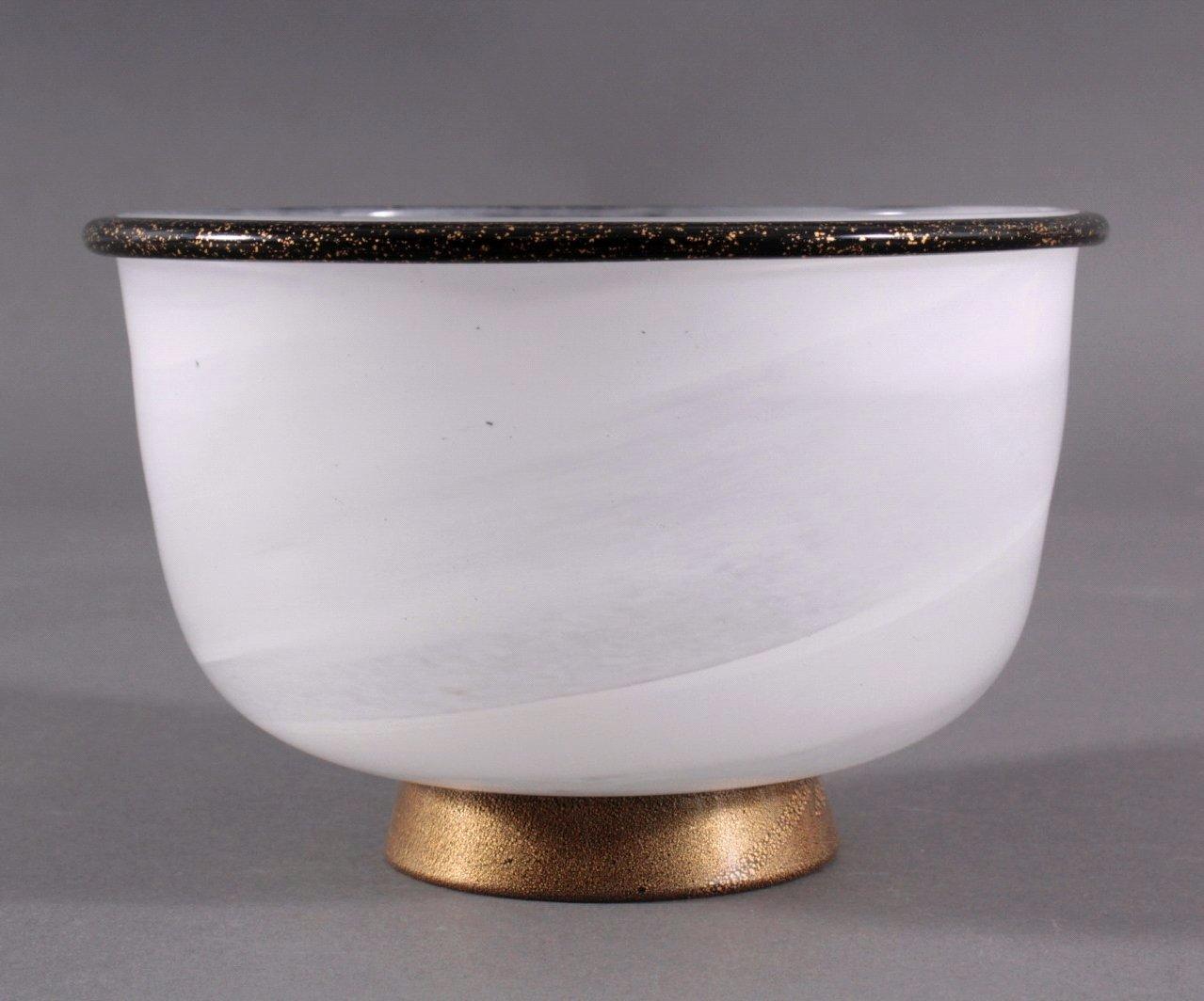 Künstlerglas, runde Anbietschale, 20. Jhd.