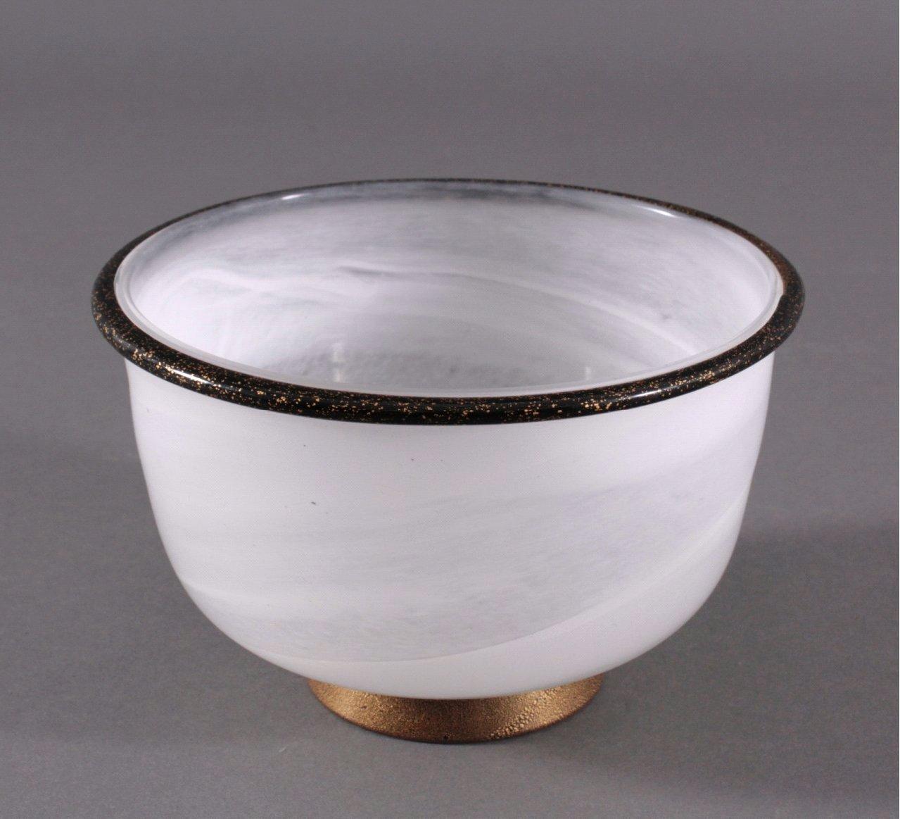 Künstlerglas, runde Anbietschale, 20. Jhd.-1