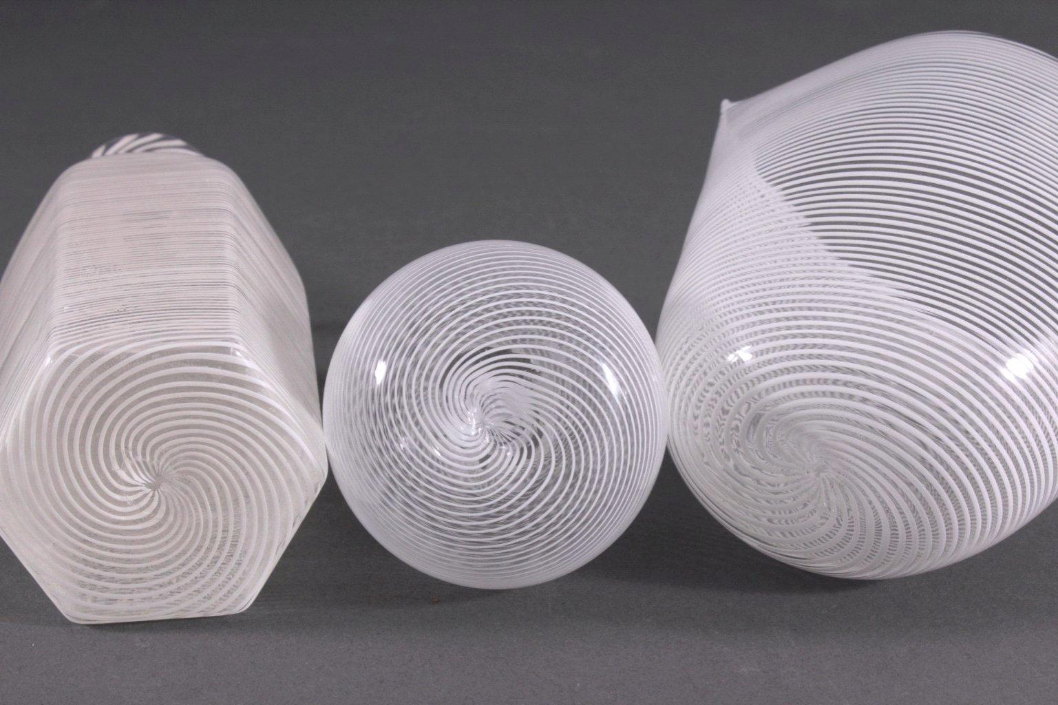Drei Glas-Objekte, Italien-1