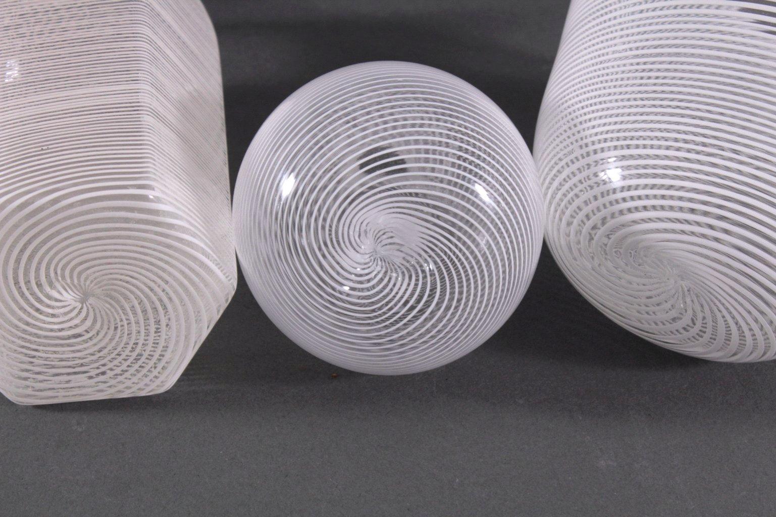 Drei Glas-Objekte, Italien-2