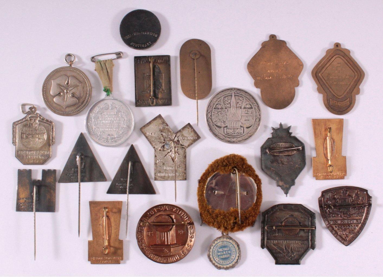 20 Tagungs- und Veranstaltungsabzeichen Hannover 1903-1931-1