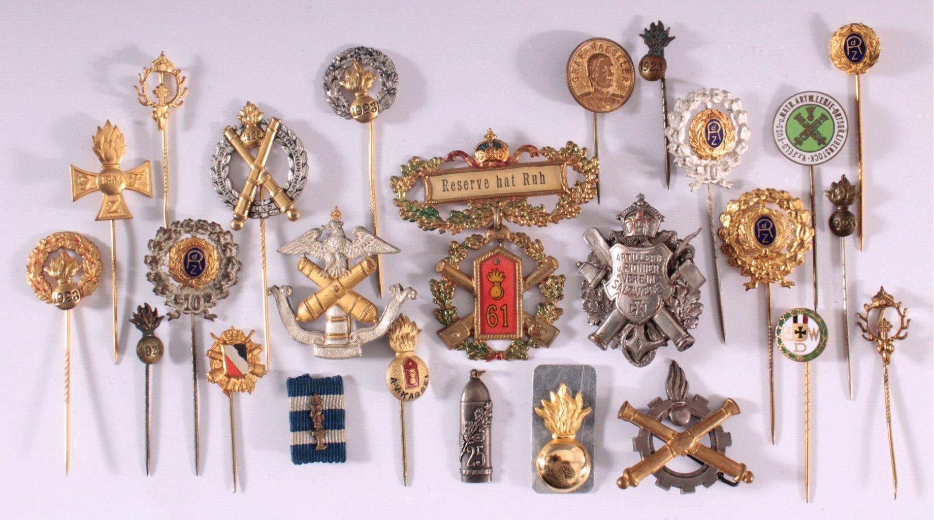 Abzeichen Deutscher Artillerie Vereine um 1900