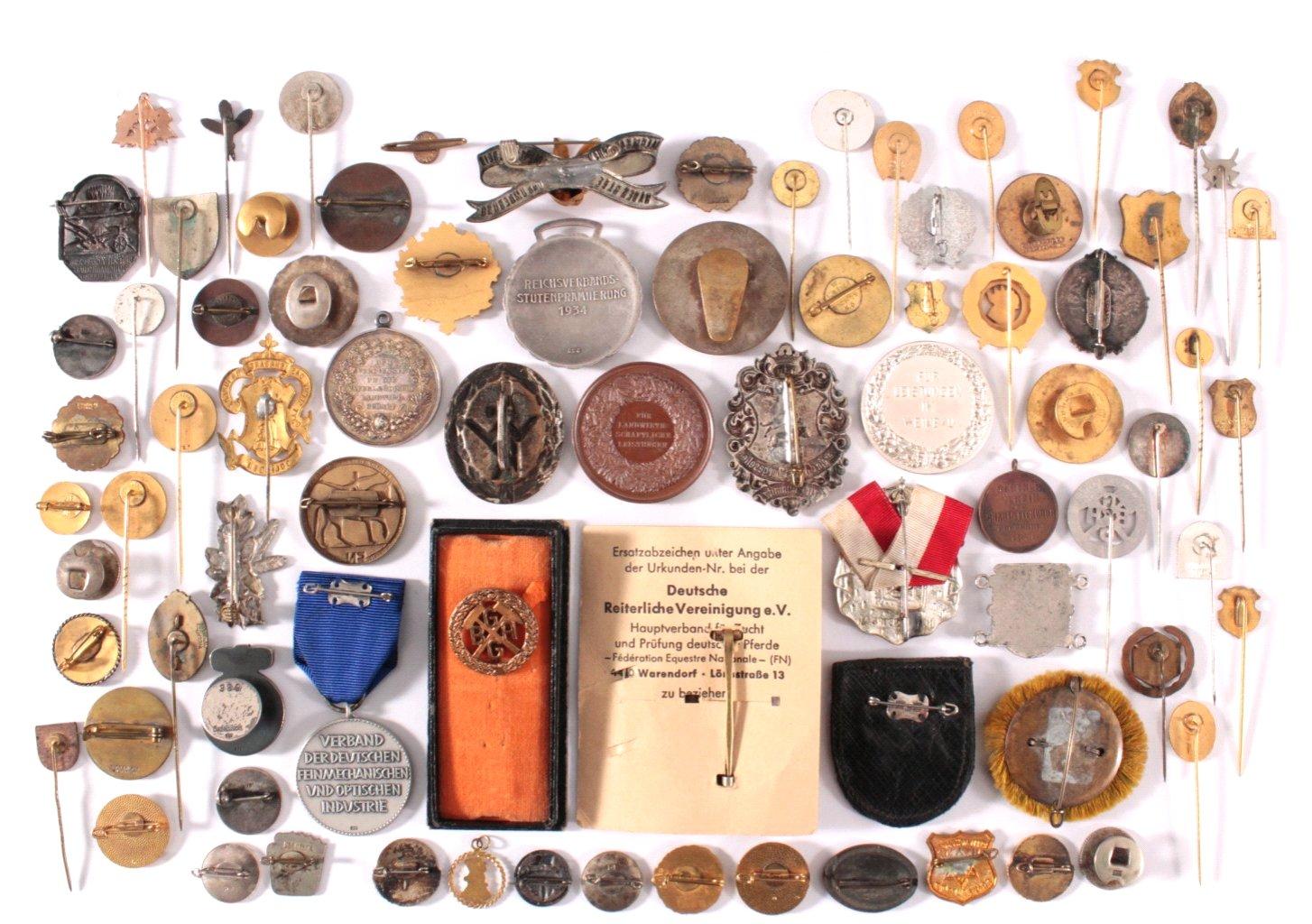 Abzeichen u. Medaillen Deutscher Handwerks Vereine um 1900