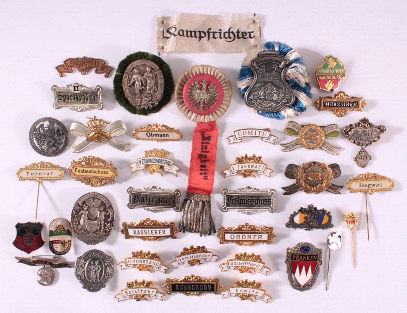 Abzeichen Deutscher Gauverbände um 1900