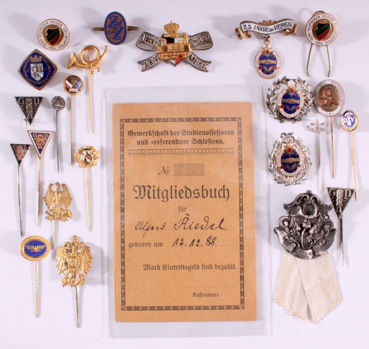 Abzeichen Deutscher Vereine um 1900