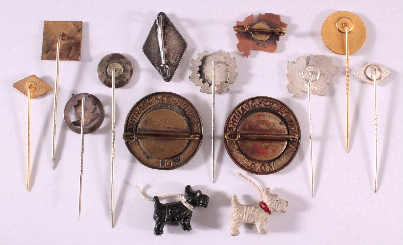 Anstecknadeln Deutsches Tierwesen um 1900-1