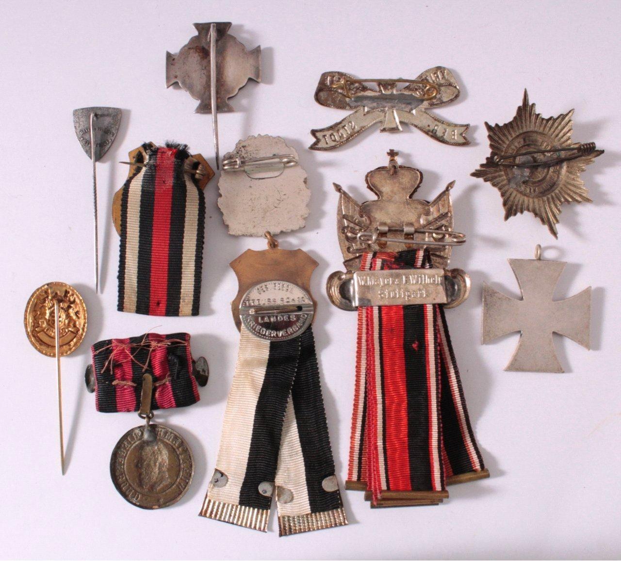 Abzeichen Deutscher Krieger Vereine um 1900-1