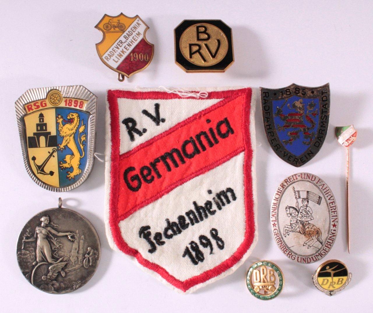 Abzeichen Deutscher Radfahrer Vereine um 1900