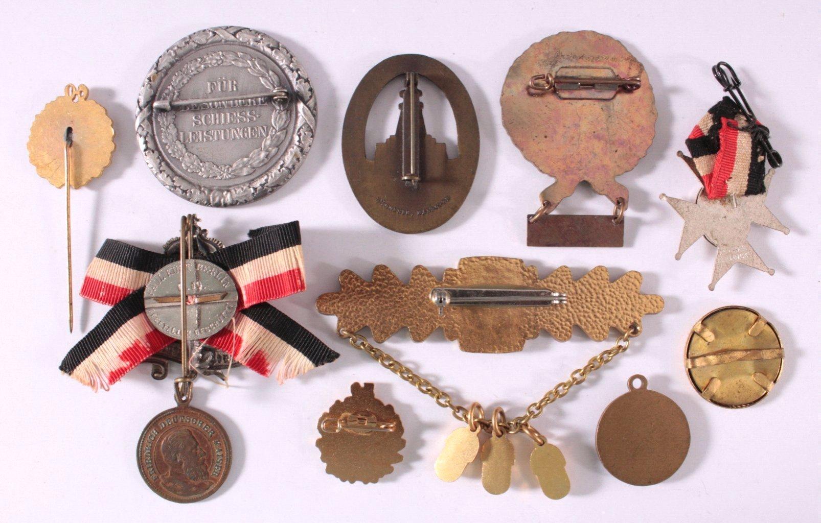 Abzeichen Deutscher Sportschützen Vereine um 1900-1