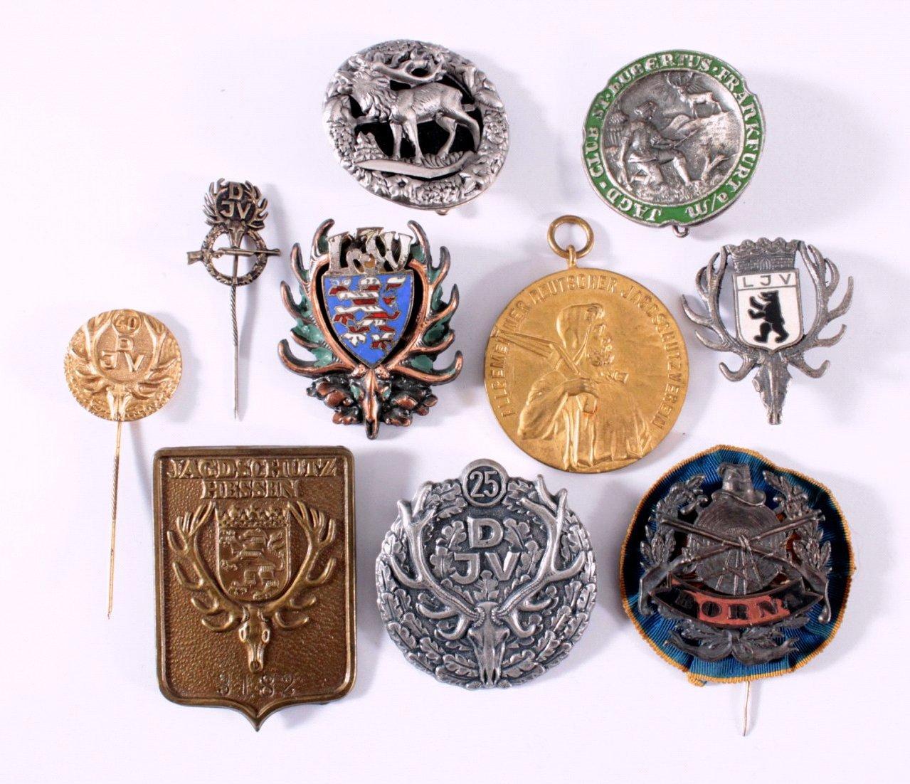 Abzeichen Deutscher Jagd Vereine um 1900