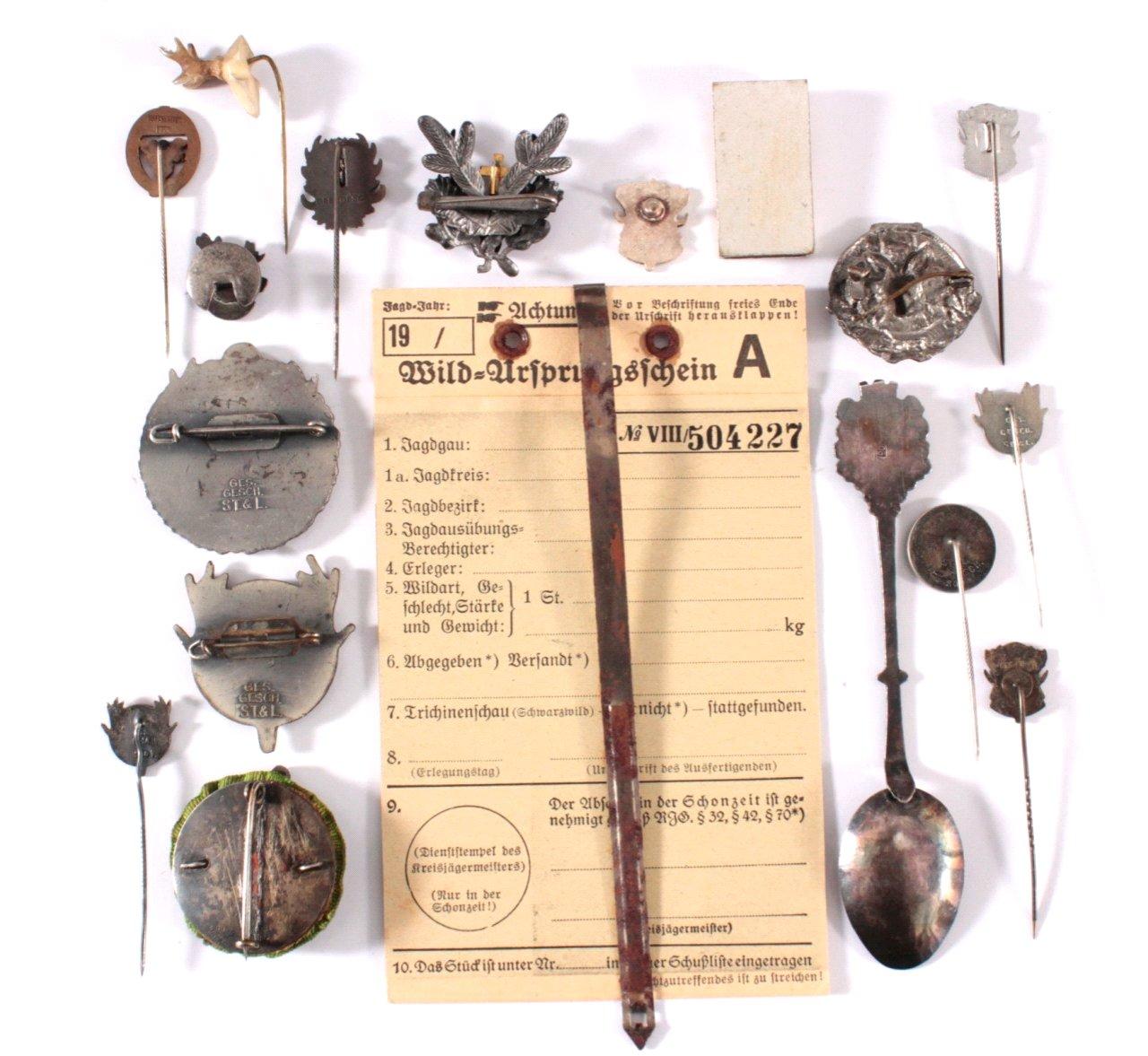 Abzeichen Deutscher Jagd Vereine um 1900-1