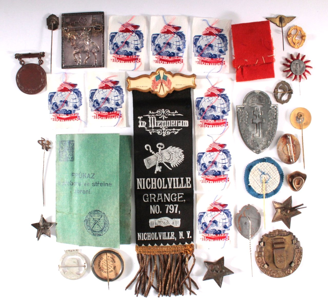 Abzeichen Europäischer u. Amerikanischer Vereine um 1900