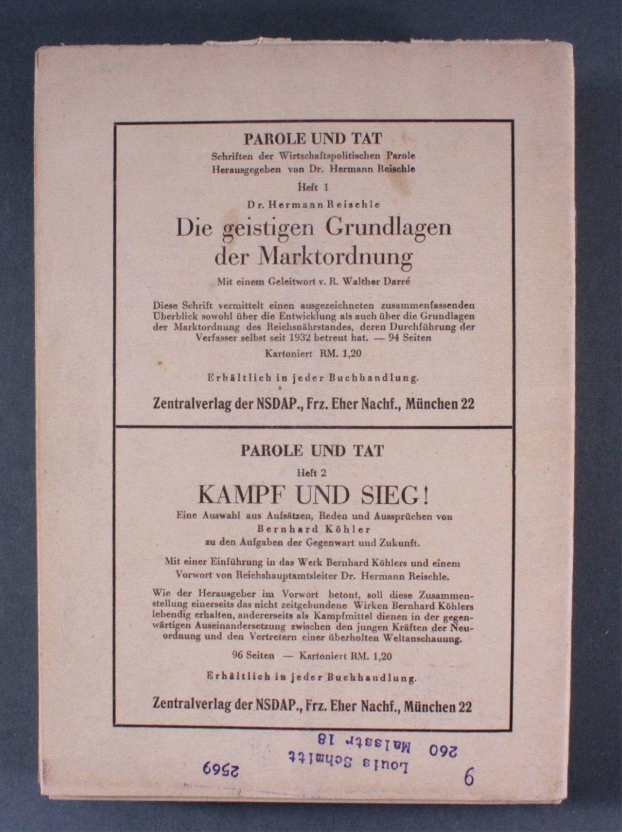 Drittes Reich, die wirtschafts politische Parole-2