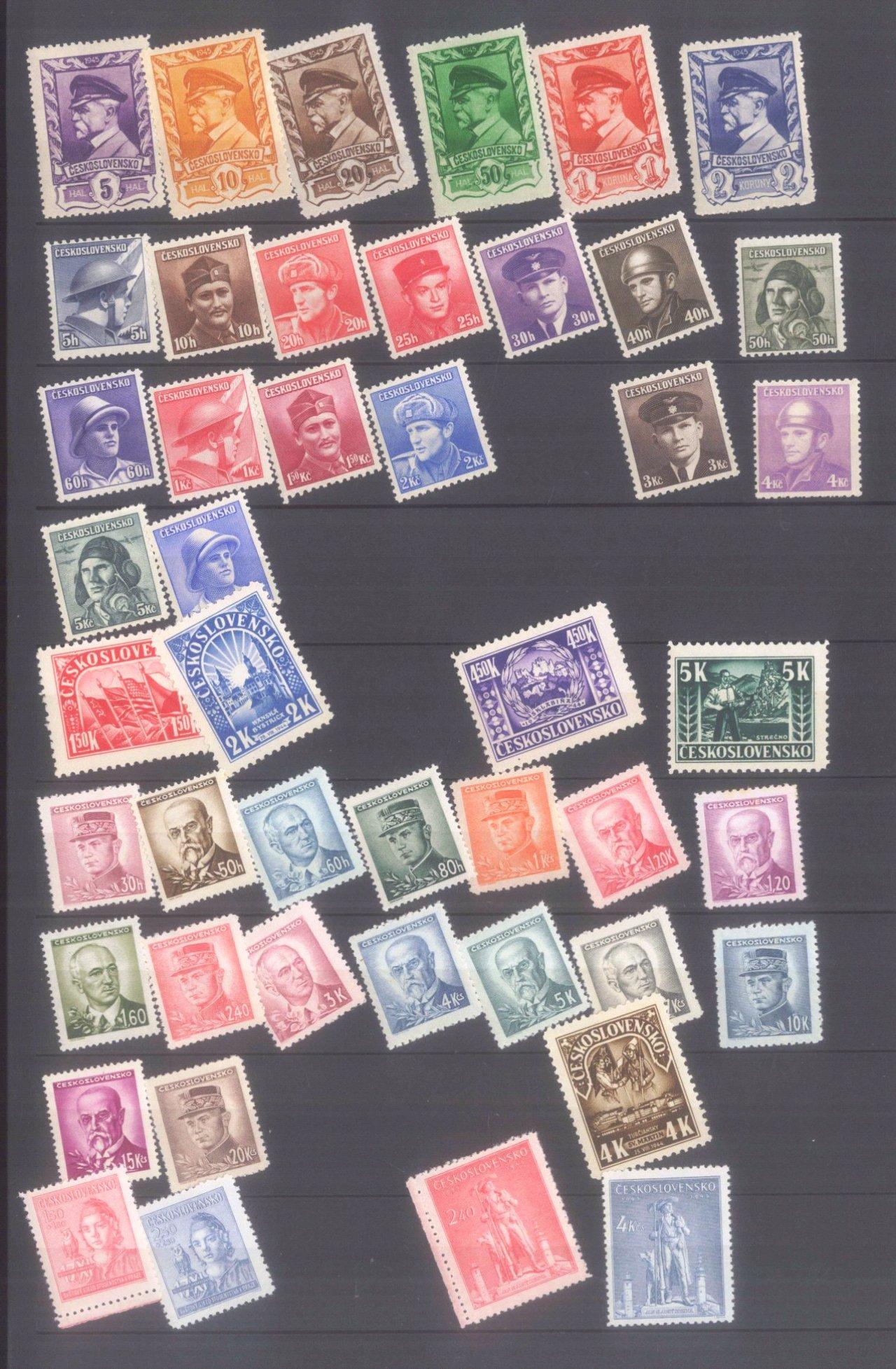 Sammlung CSSR in 6 Alben, dabei auch Bogen-1