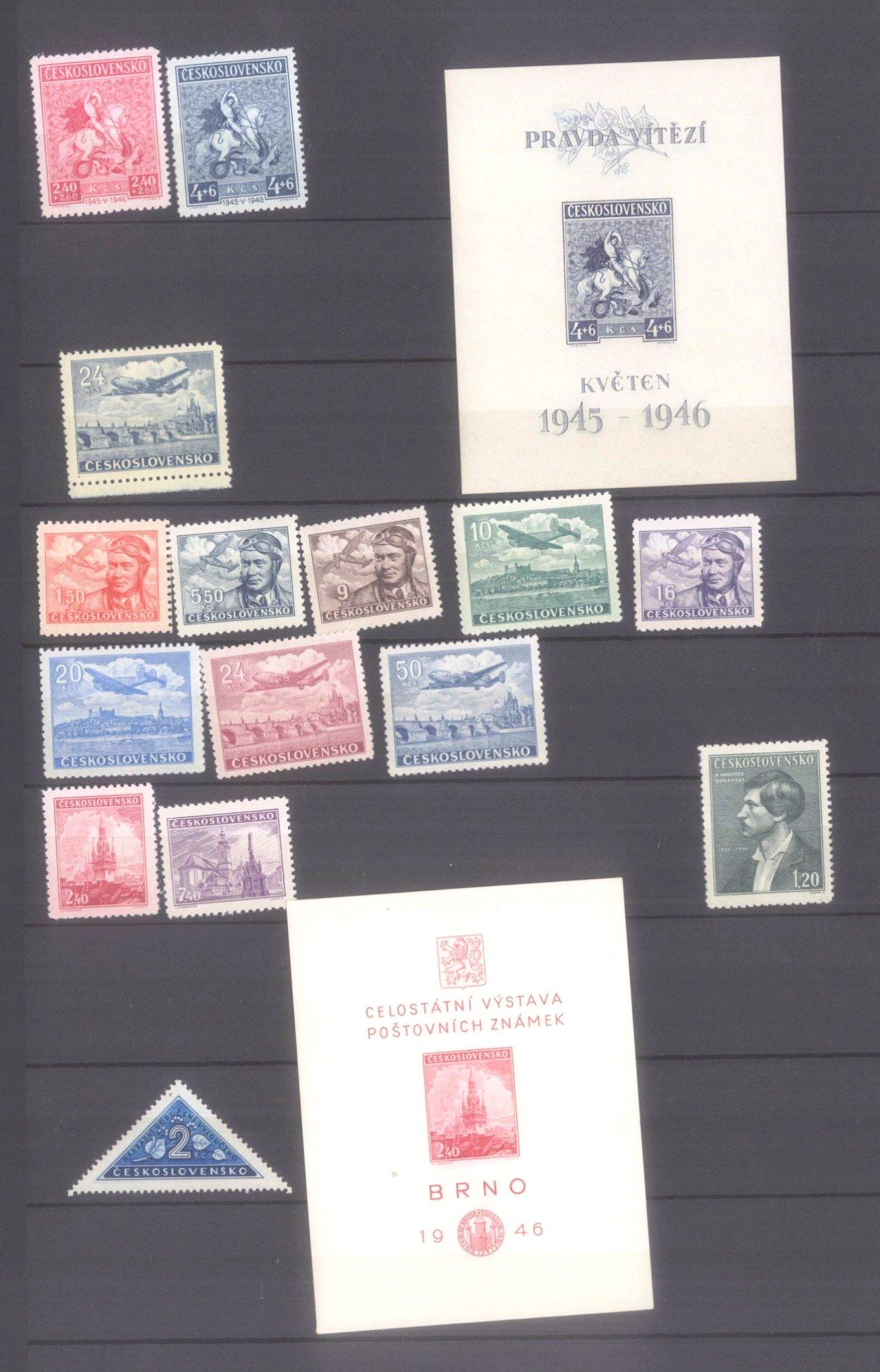Sammlung CSSR in 6 Alben, dabei auch Bogen-3
