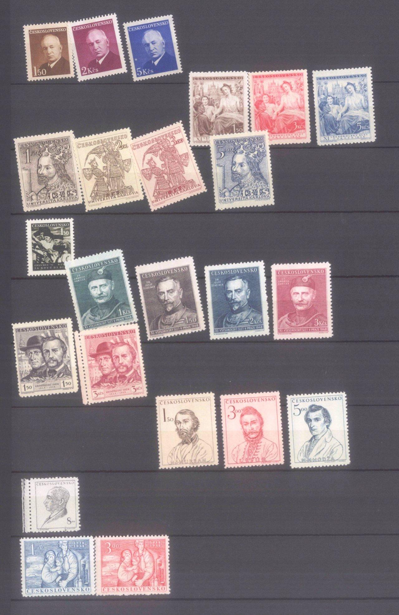 Sammlung CSSR in 6 Alben, dabei auch Bogen-6
