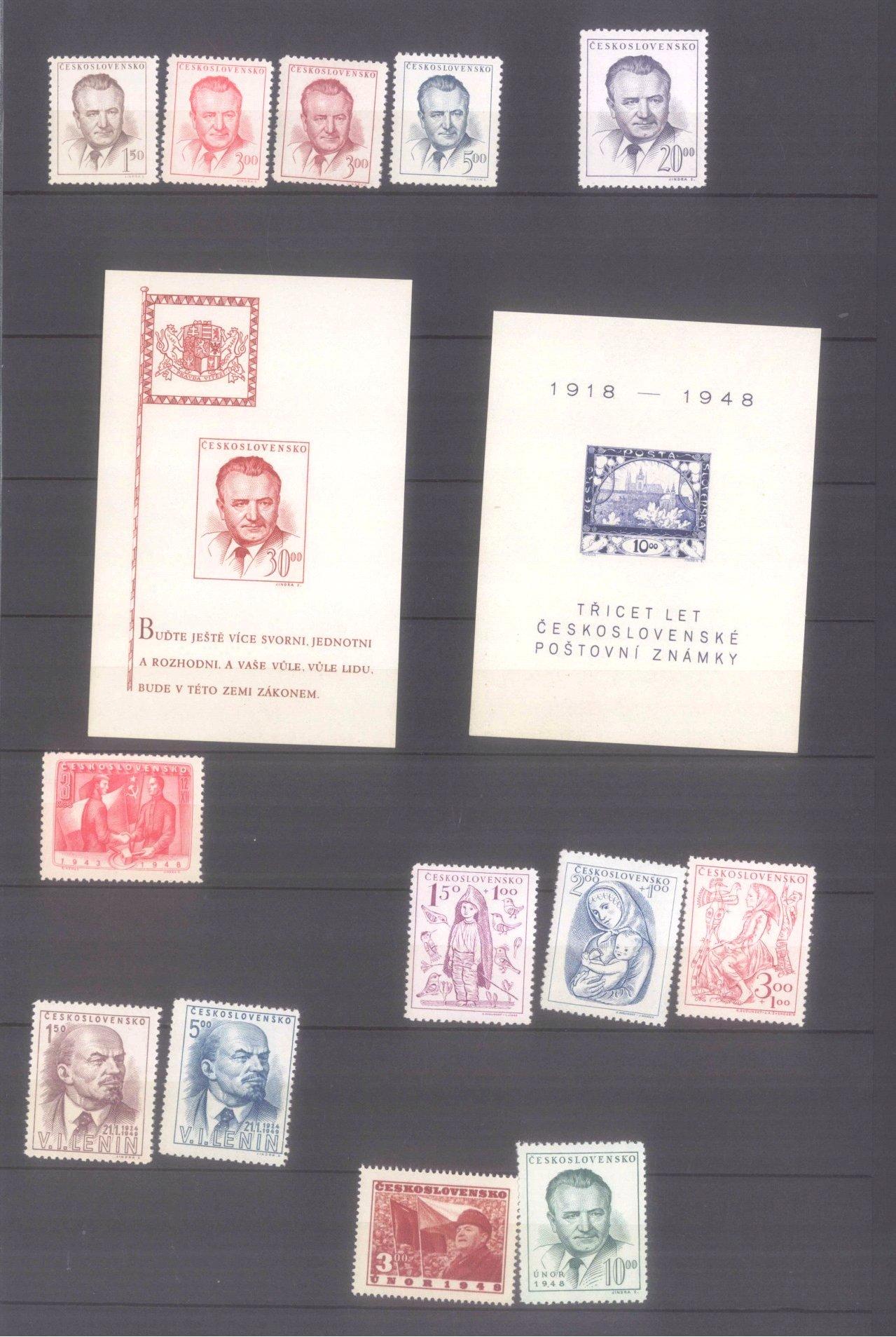 Sammlung CSSR in 6 Alben, dabei auch Bogen-7