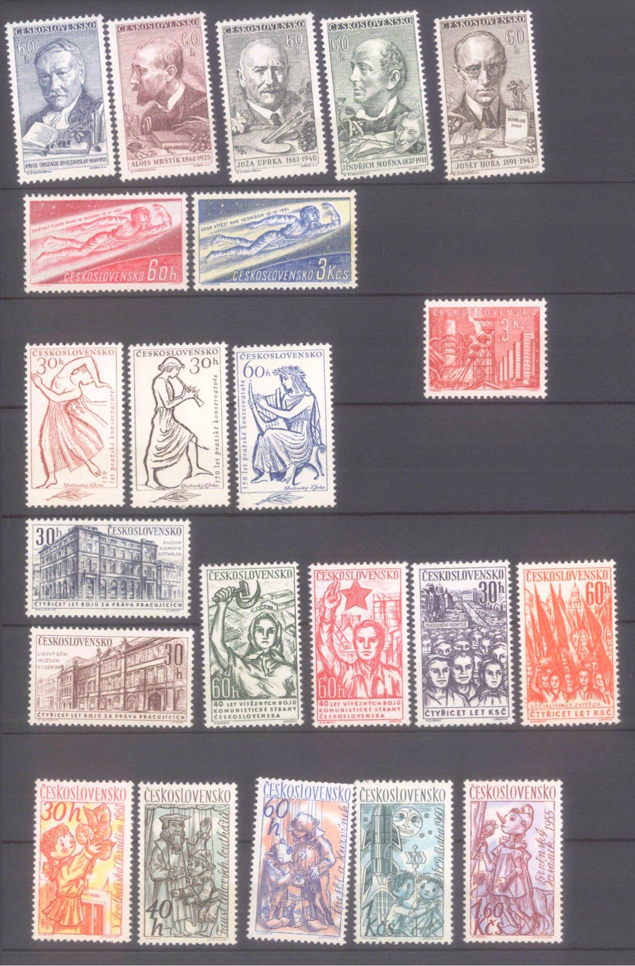 Sammlung CSSR in 6 Alben, dabei auch Bogen-10