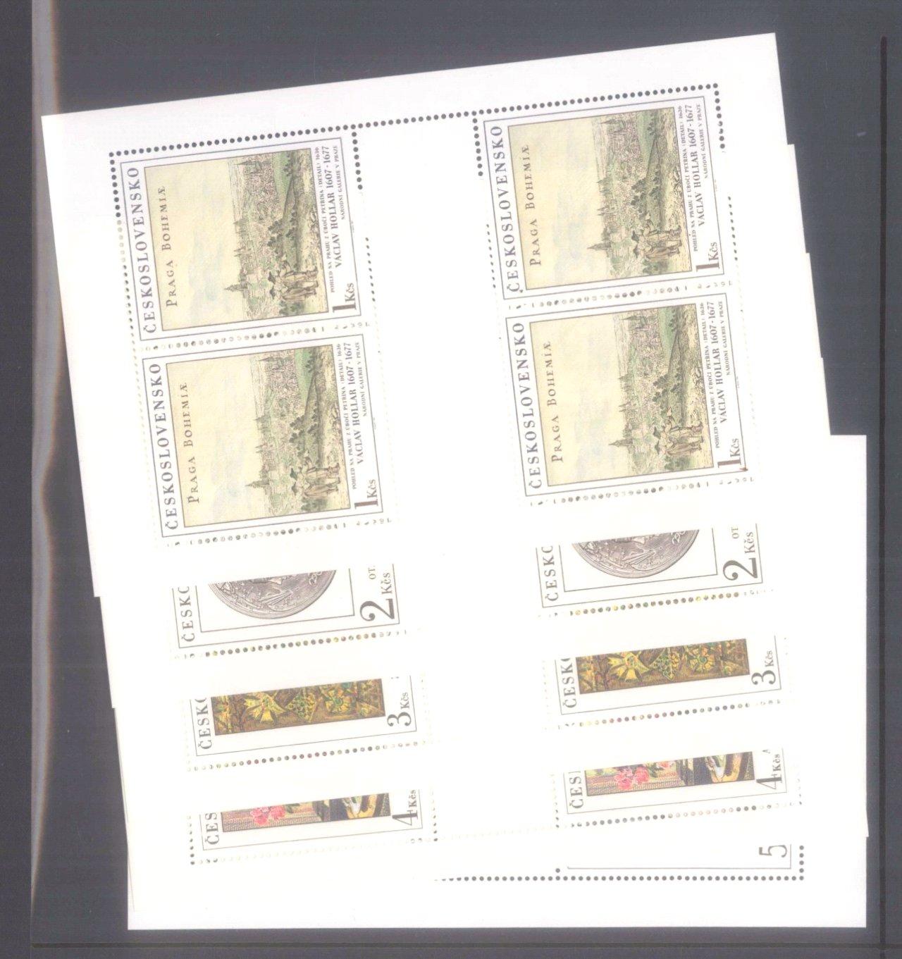 Sammlung CSSR in 6 Alben, dabei auch Bogen-12